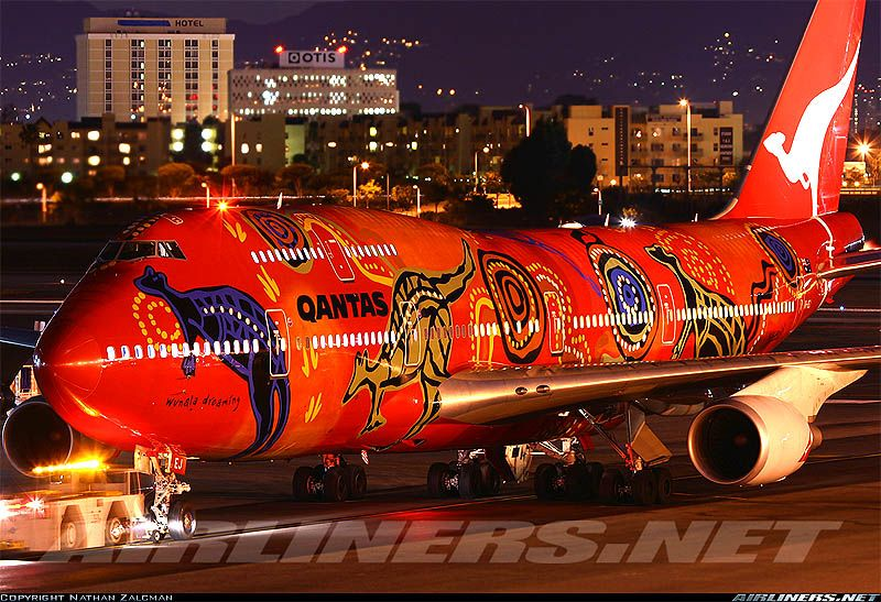 """First off, Qantas unveiled truly mind-boggling painting scheme for its jumbo jets in """"Flying Art"""" series"""
