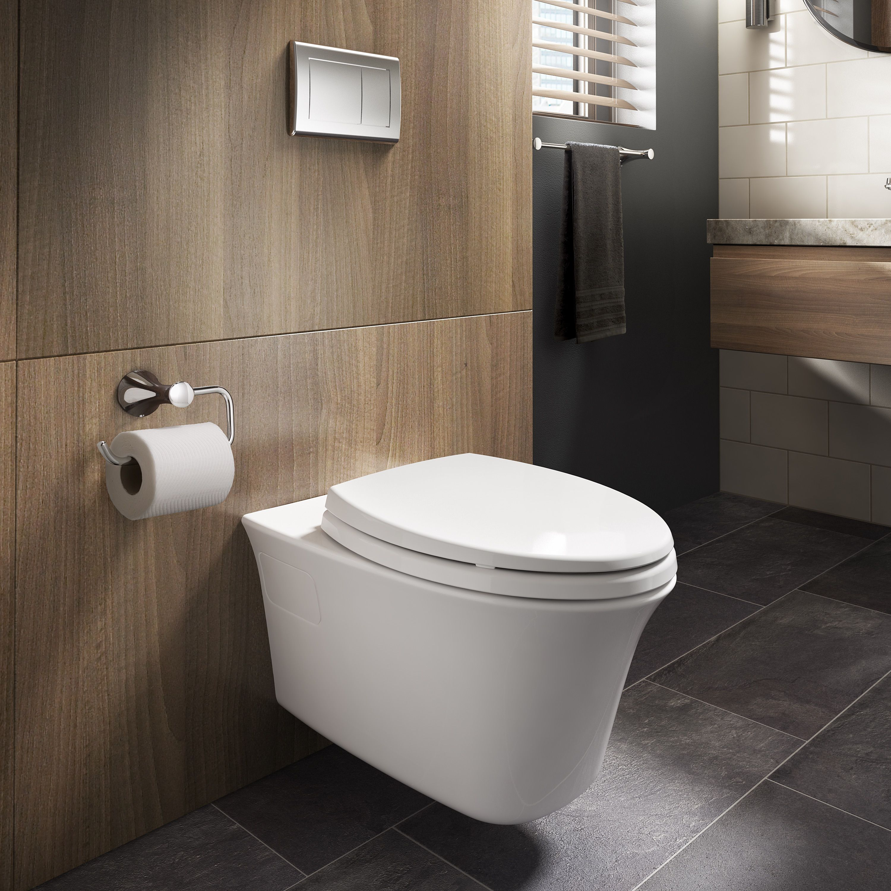 Toto Wall Hung Toilets Open Up Bathroom Space Pairing A Unique