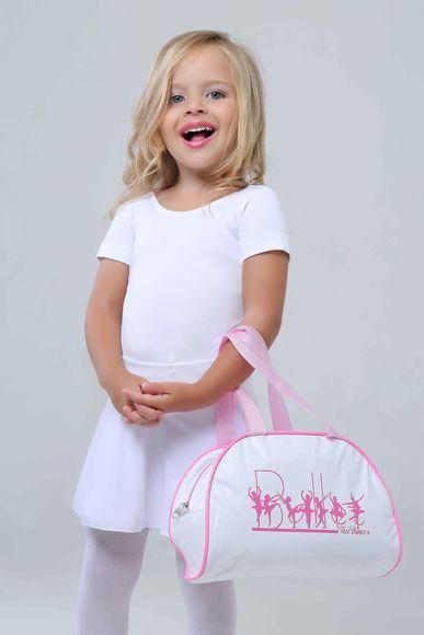 f73a87760 Bolsa para Ballet Infantil na cor Branca. Ideal para completar o conjunto  de Ballet da