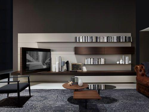 Moderne Wohnwand Aus Holz Von Piero Lissoni MODERN 2 Porro