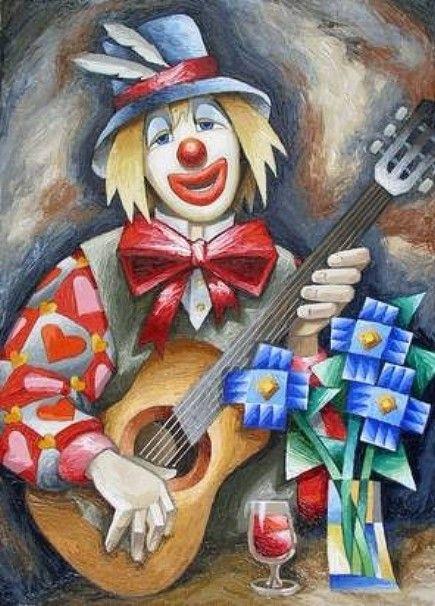 Clowns Et Arlequins 27 Portraits De Clowns En 2019 Dessin
