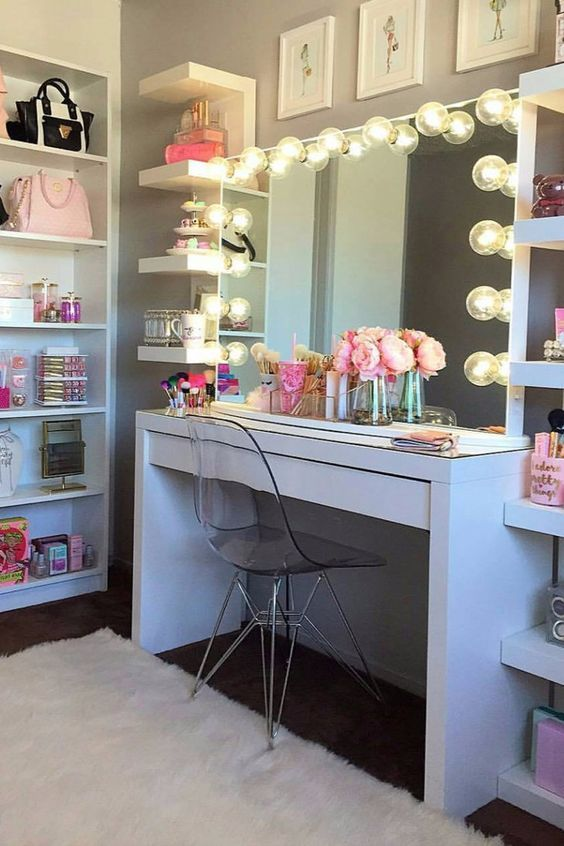 How To Diy Your Dream Vanity Decoration Room Decor Bedroom Decor Makeup Rooms