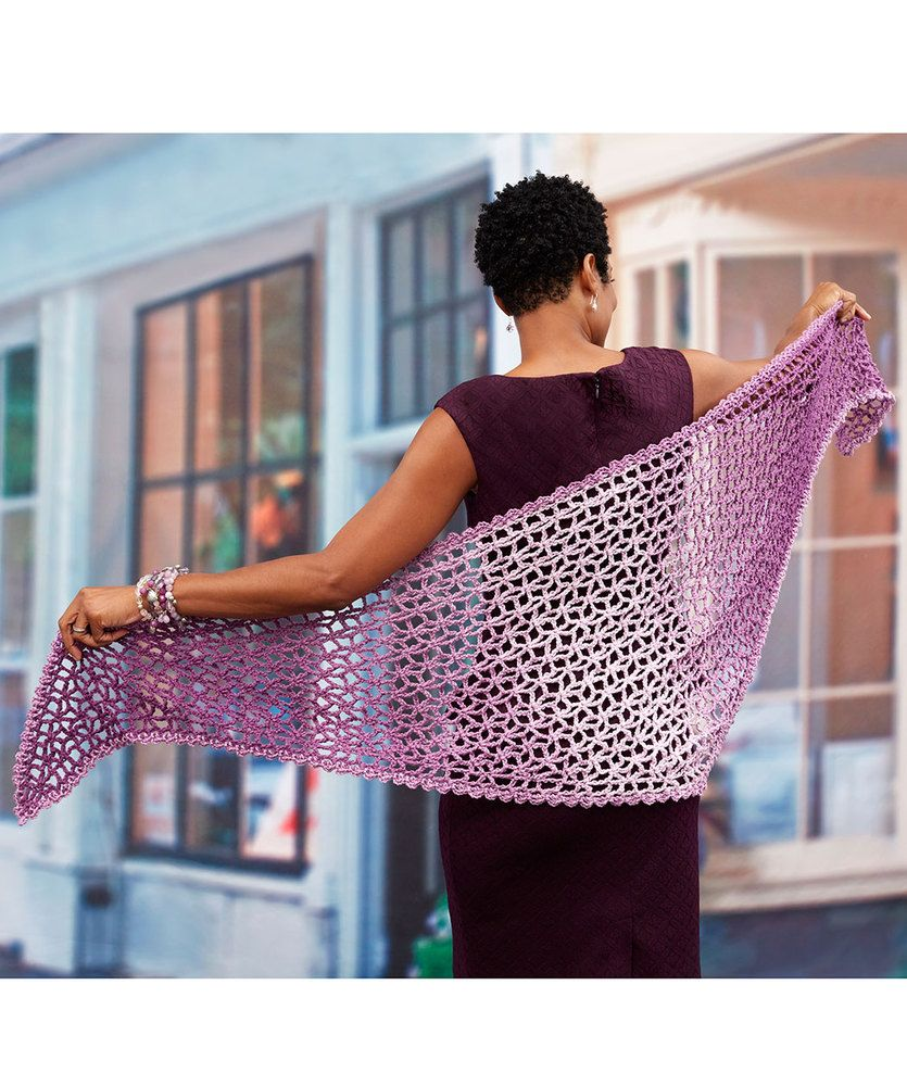 Lacy Isosceles Crochet Shawl - free pattern by Lisa Gentry for Red ...