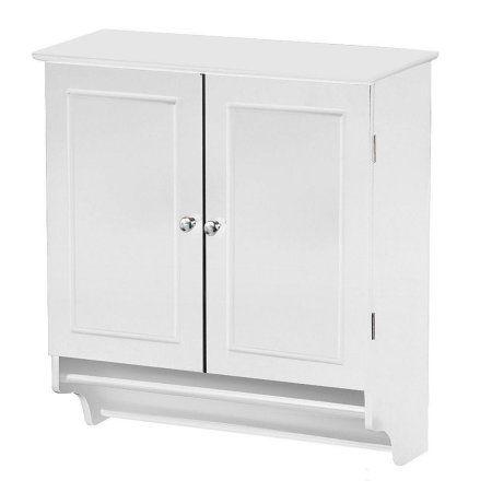 Yaheetech Bathroom/Kitchen Wall Mounted Cabinet White Double Door