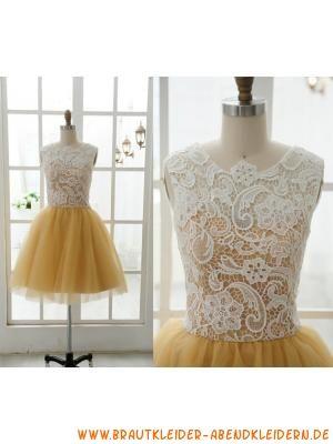 schöne alinie süß kurze abendkleider aus softnetz und sp  gelbe ballkleider kleider