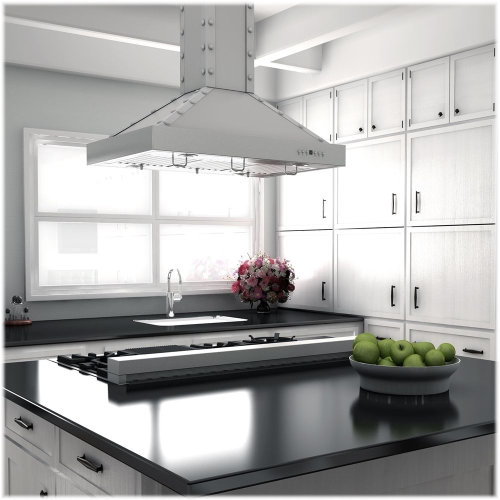Zline Professional 48 Gas Cooktop With 7 Burners Snow Stainless Rts 48 Best Buy Range Hood Kitchen Installation Gas Cooktop