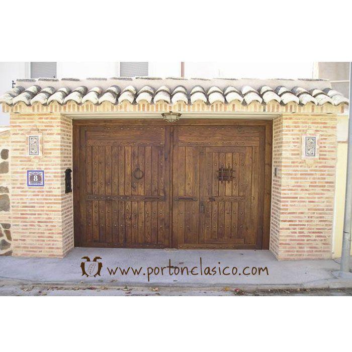 Port n r stico almonacid toledo port n cl sico for Portones madera rusticos
