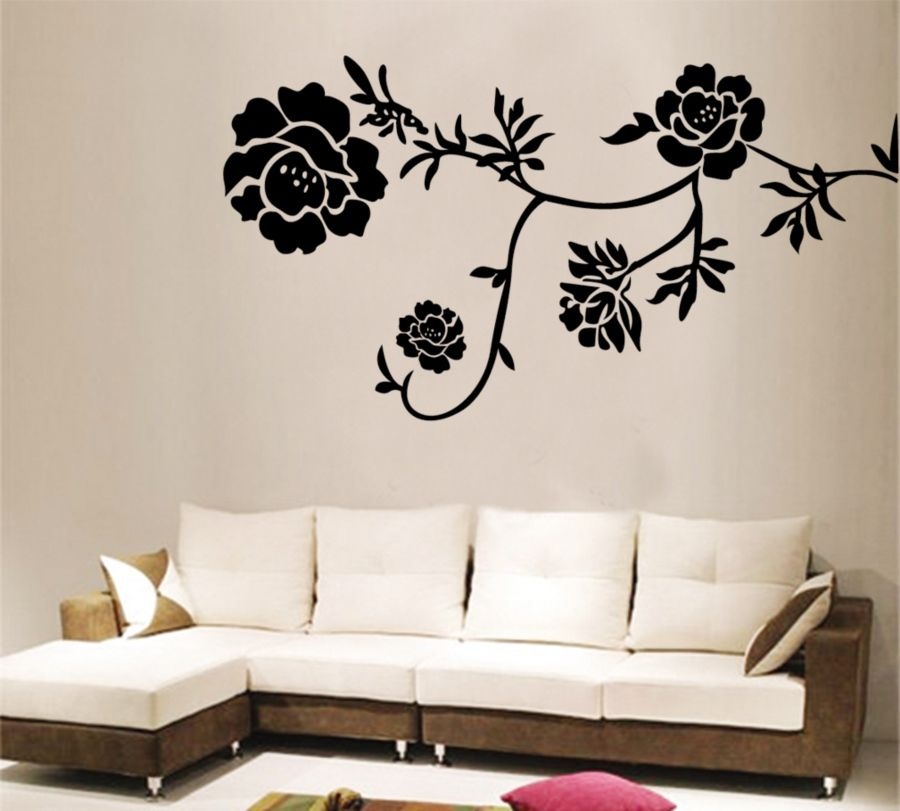 Image Result For Black And White Flower Mural