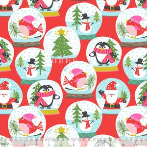 Fat Quarter The Snowman Snowglobe Christmas Cotton Quilting Sewing Fabric