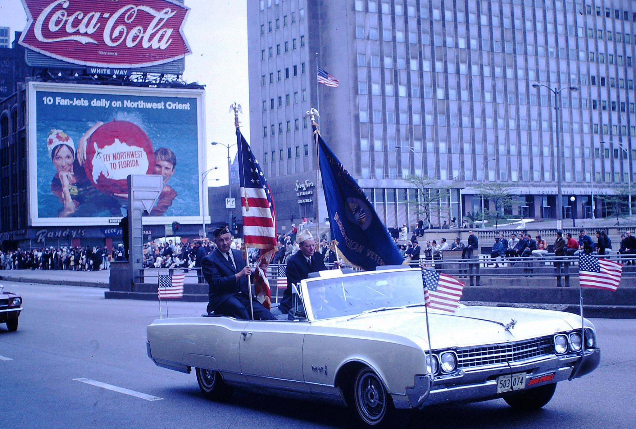 Vintage Found Photo - Chicago Memorial Day Parade 1967 | Cars