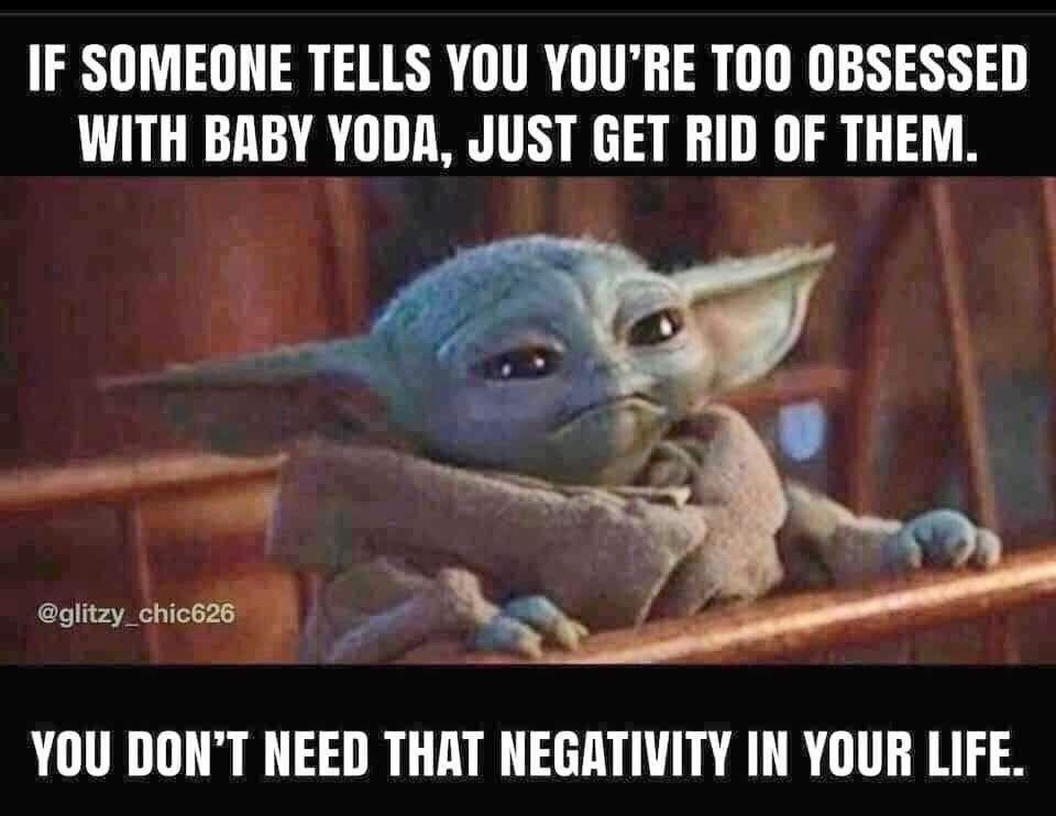 Pin By Blondze On Baby Yoda One For Me Yoda Meme Yoda Funny Yoda