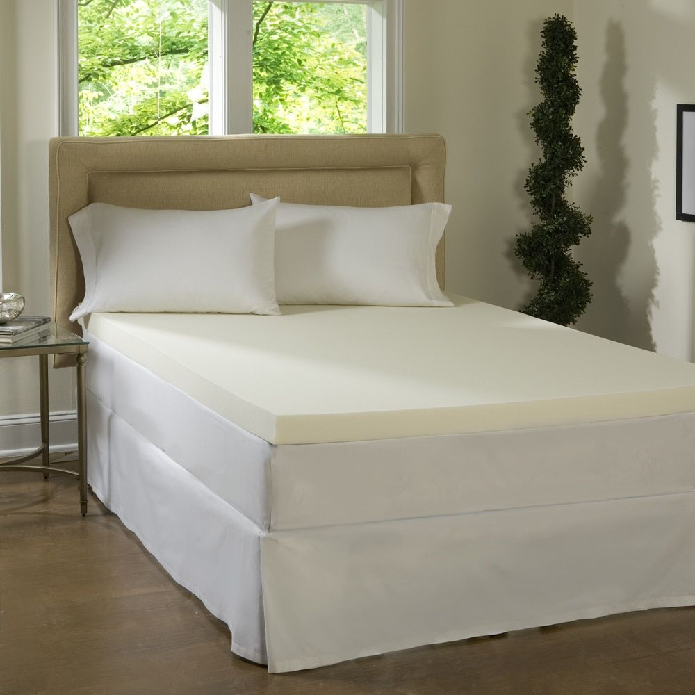 comforpedic loft from beautyrest 2 inch memory foam mattress topper