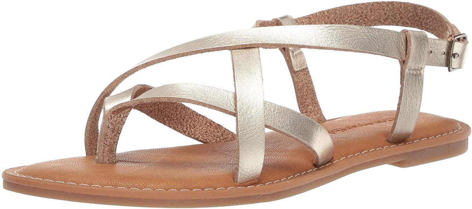 8218277f1e599 Amazon.com: Amazon Essentials Women's Casual Strappy Sandal, Gold ...