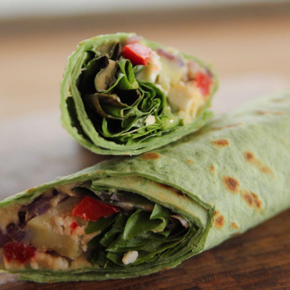 Heavenly hummus wrap with homemade hummus recipe in 2020