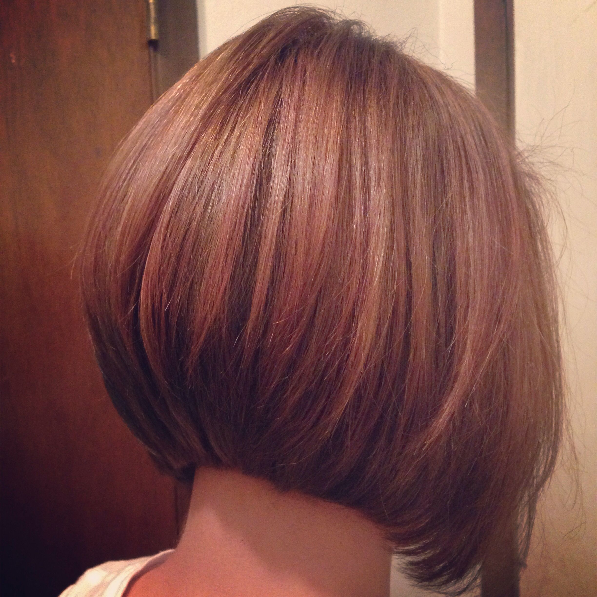 Short stacked haircut I just did Stacked bob A line bob short