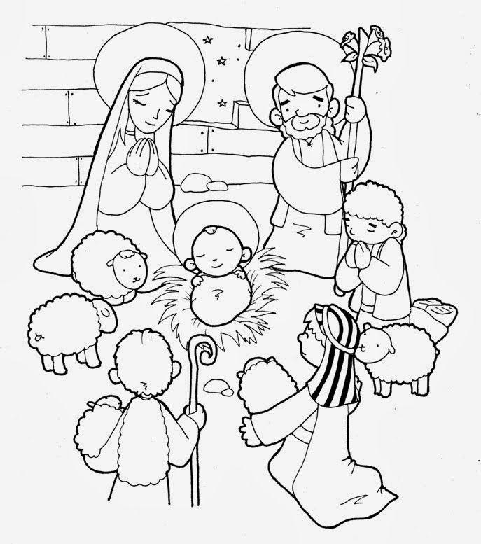 Increíble Colorear Bebé Jesús En Pesebre Cresta - Dibujos Para ...