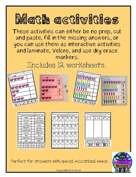 Math Activities In 2020 Math Activities Math Math Worksheets