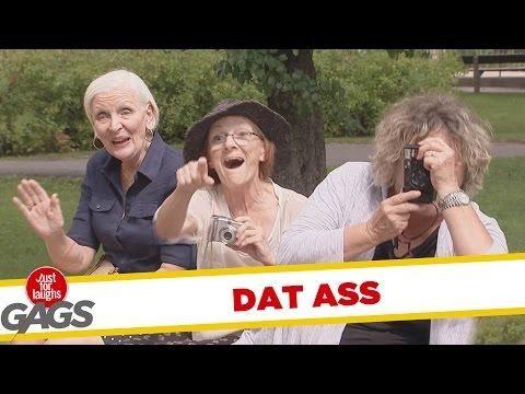 old ladies take pictures of men's ass prank - #funny #prank