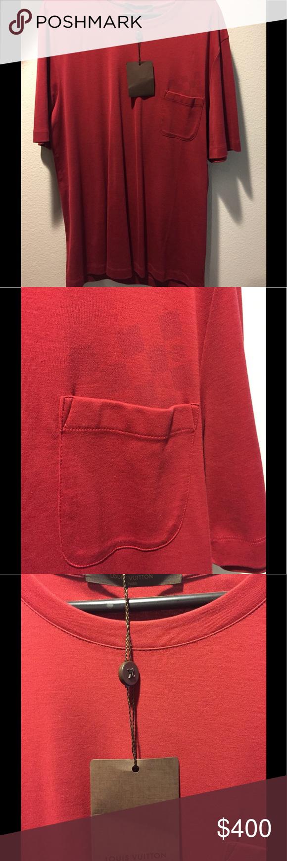 Louis Vuitton shirt Louis Vuitton third with design above pocket.  NWT. Shirts Tees - Long Sleeve