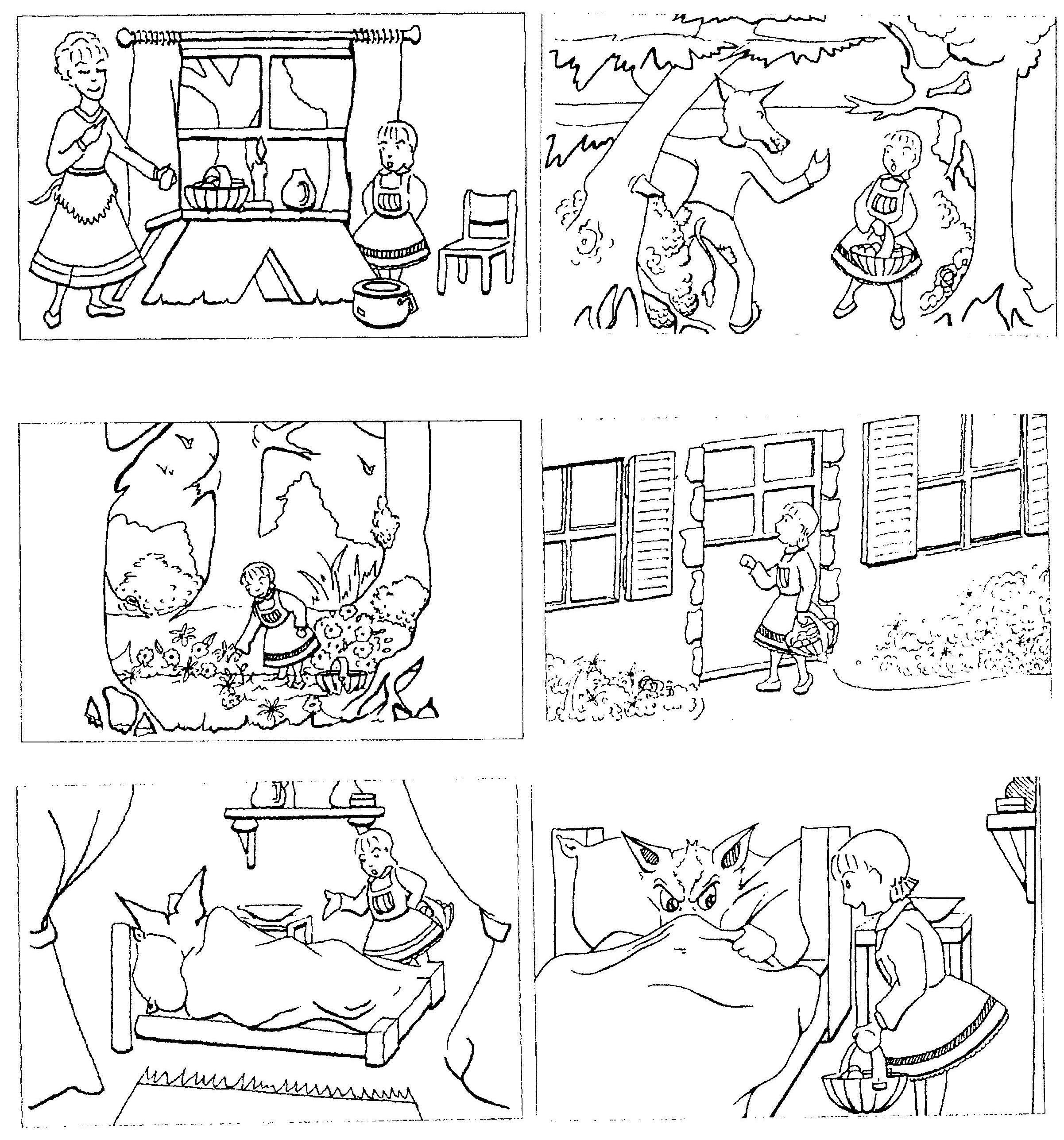 images sequentielles le petit chaperon rouge ecole contes