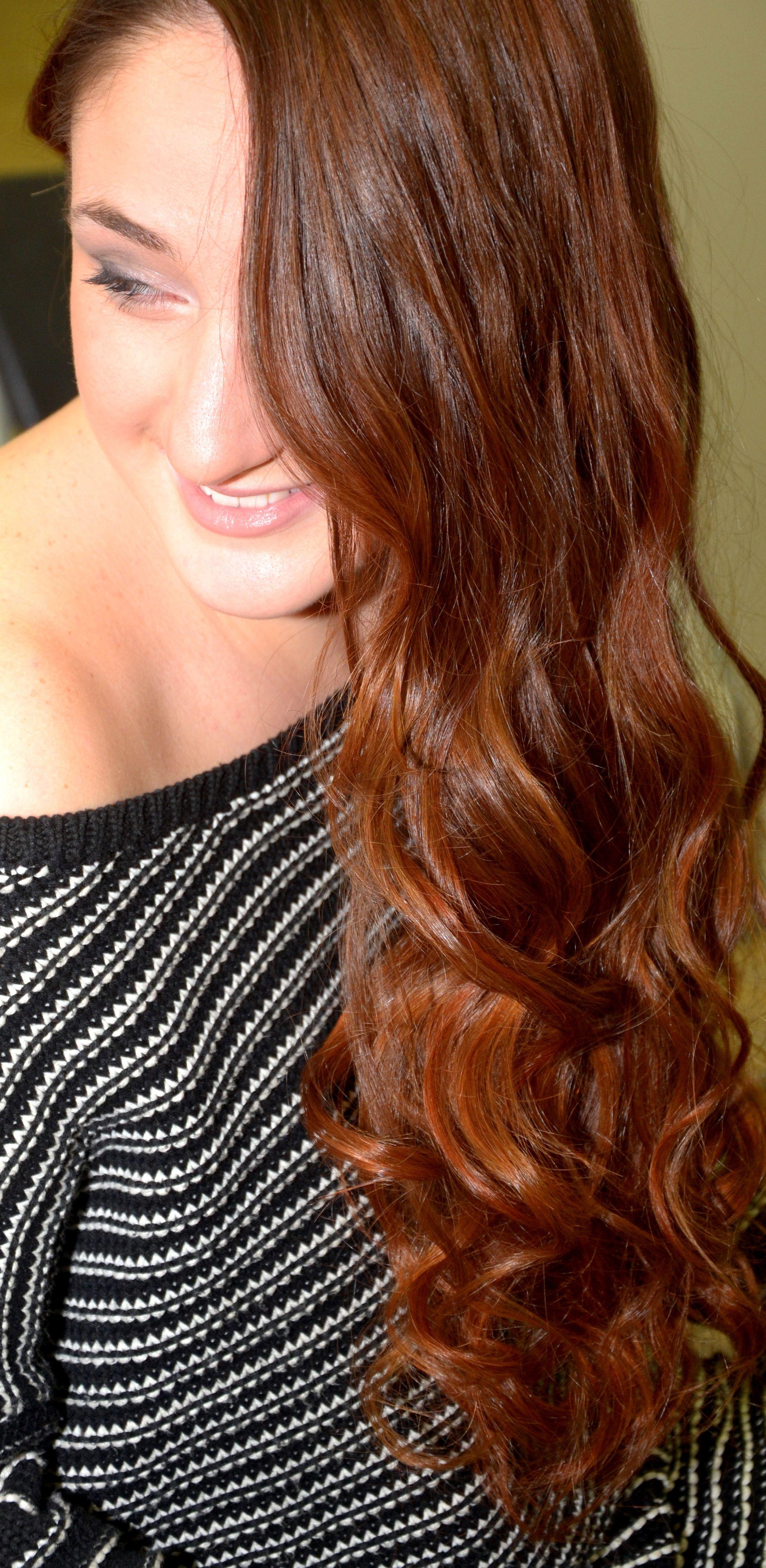 degrade joelle red Degrade Pinterest Long layered hair and