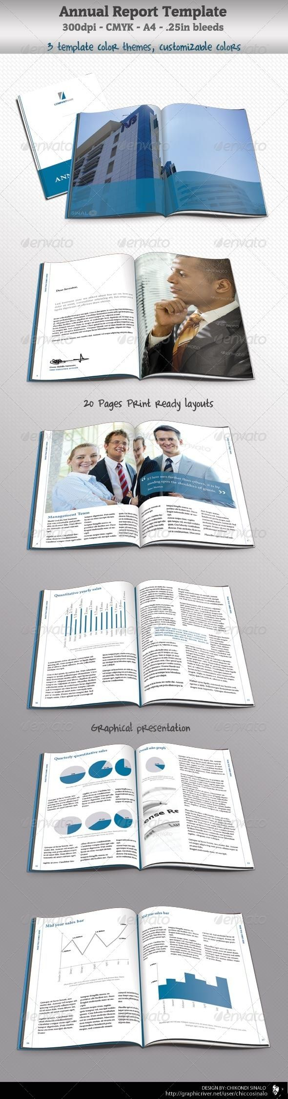 Corporate Annual Report Template – Annual Reports Templates