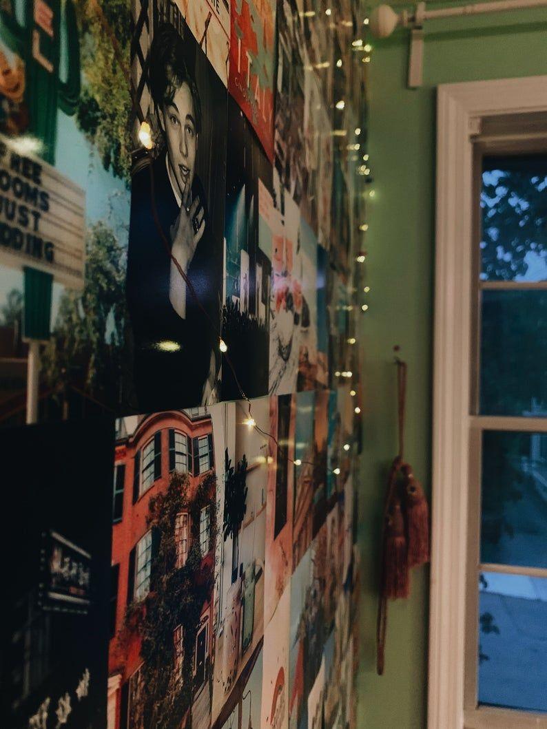 Aurea Collage Kit V2 Travel Retro Positive Neon Etsy In 2020 Photo Walls Bedroom Aesthetic Room Decor Custom Collage