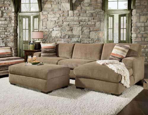 2pc Cocoa Sectional With Chaise Shop Styles Like This