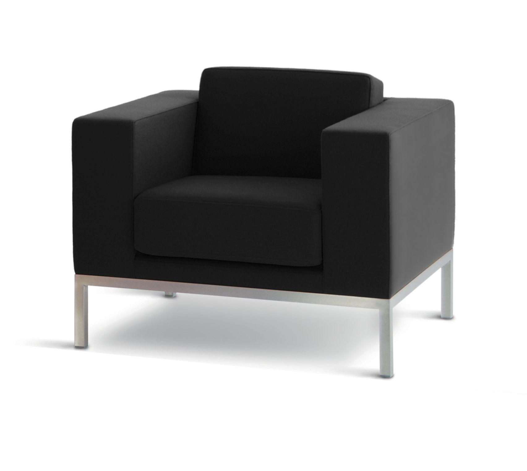 hitch mylius | hm25a armchair upholstered in black leather