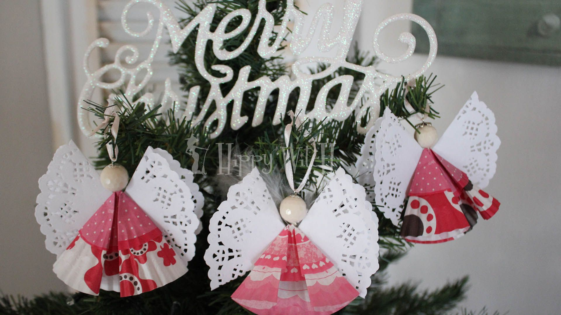 Tutorial ANGELI DI CARTA - Decorazione di Natale FAI DA TE https ...
