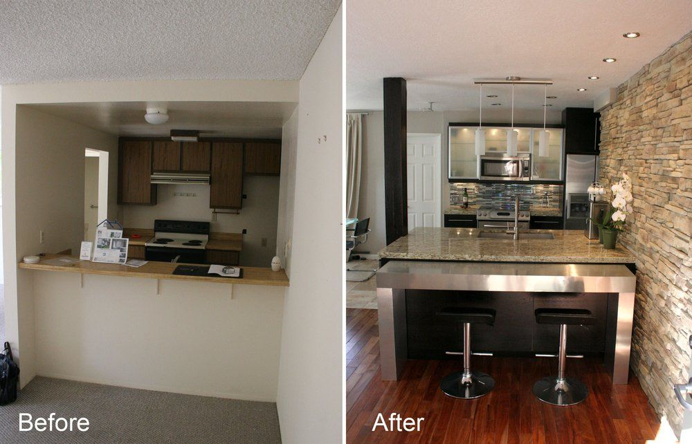 Condo Kitchen Renovation Before And After Yelp Condo Kitchen Remodel Kitchen Remodel Small Small Kitchen Layouts