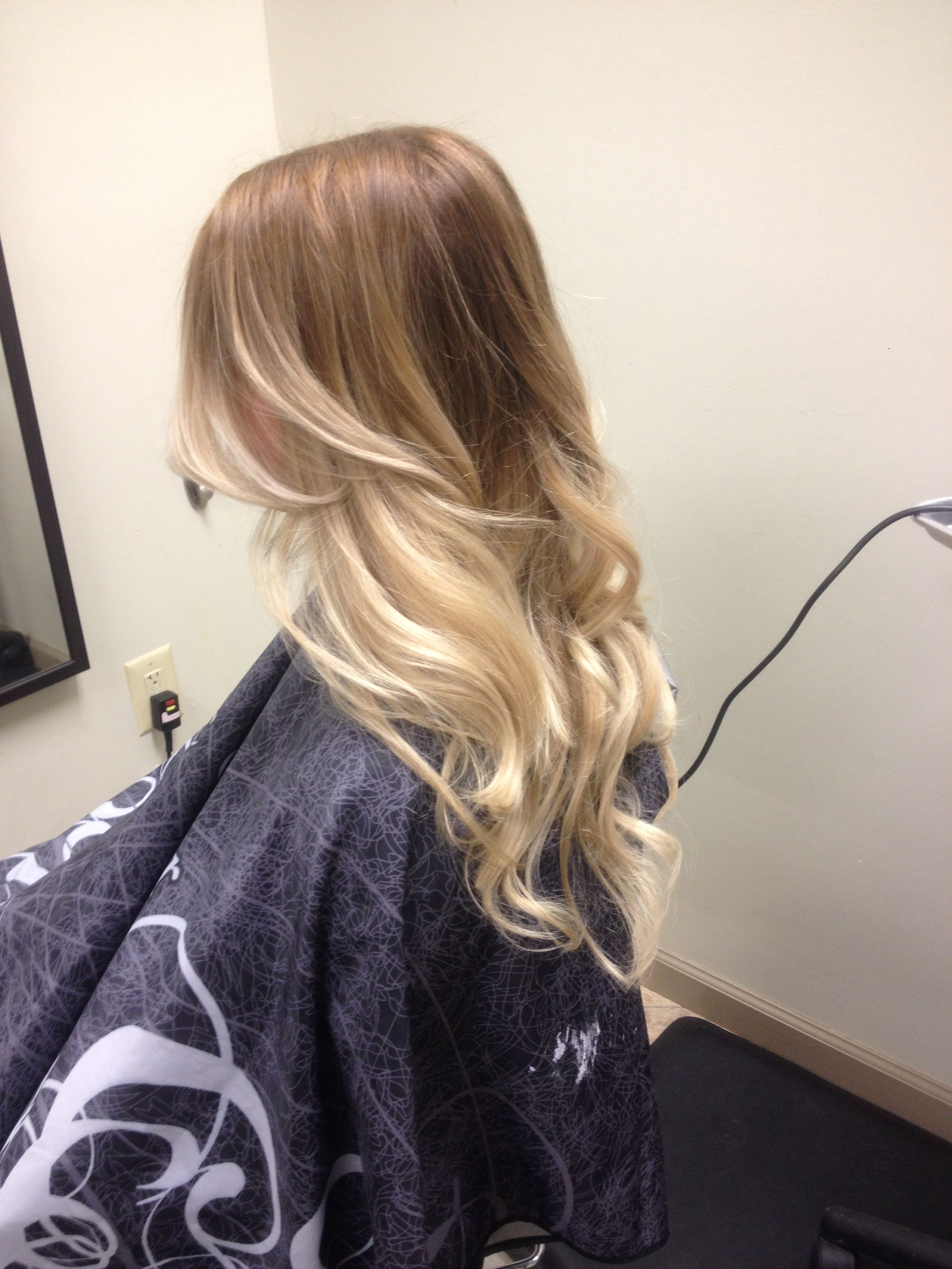 lauren conrad inspired ombre hair i did on my client