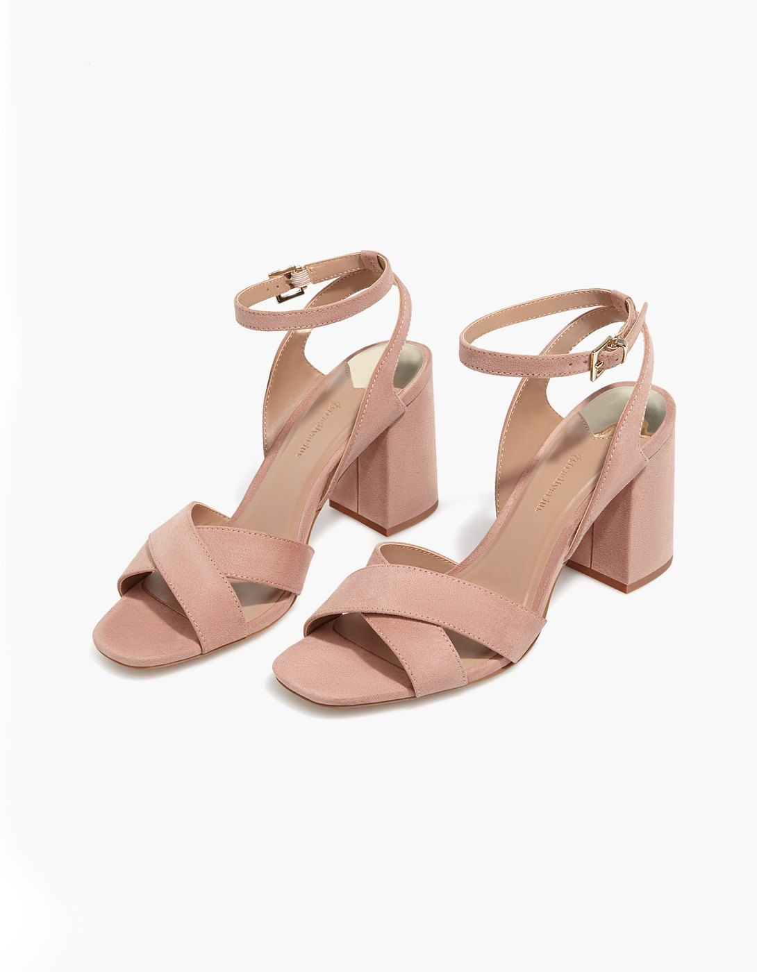 ToutesStradivarius Shoes Addict Sandale Talon Nude France IY7b6gfyv