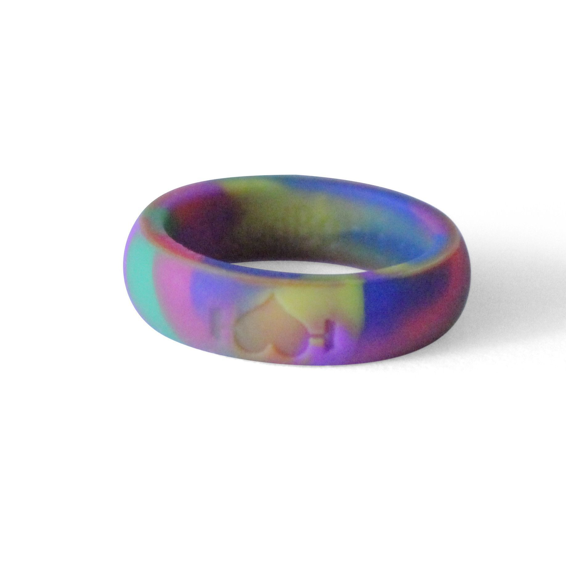 Women's Rainbow Silicone Ring Silicone rings