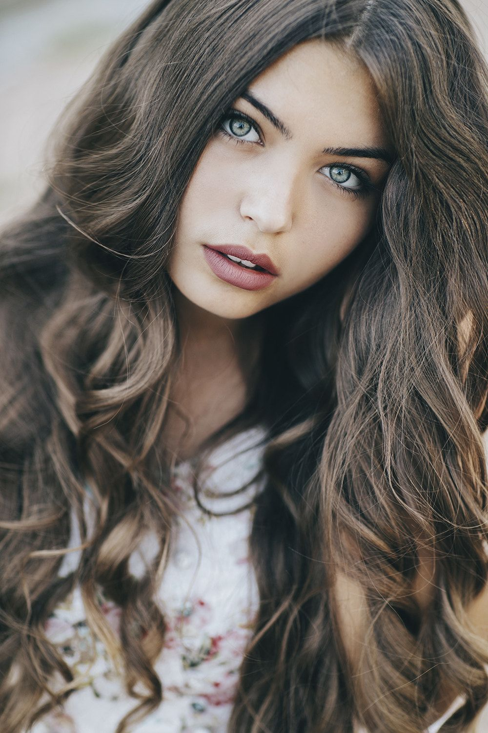 pretty girls with brown hair and green eyes wwwpixshark