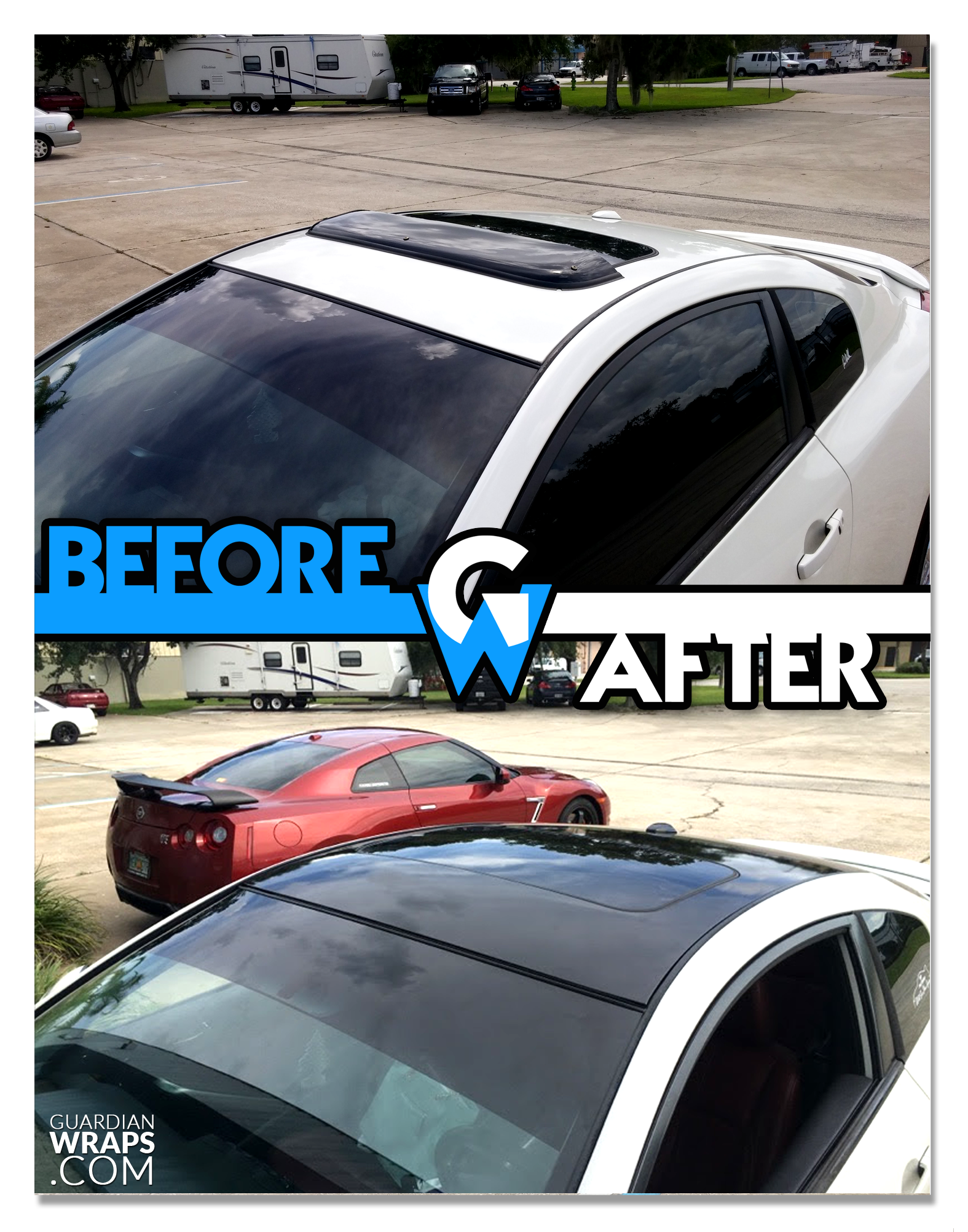 Nissan Altima Roof Wrap Black Gloss Vinyl Guardian Wraps Before And After Altima Nissan Altima Nissan