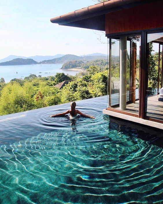Best hotel with perfect pool view in phuket #thailand #phuket #sripanwa #thingstodo