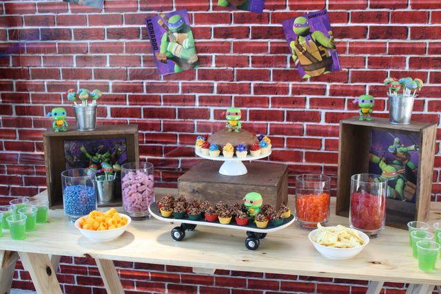 teenage mutant ninja turtles birthday party ideas pinterest