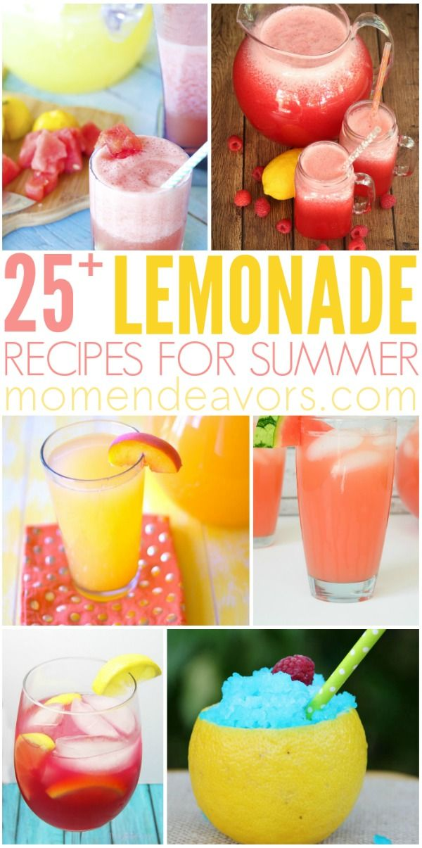 25+ Lemonade Recipes - all kinds of different refreshing flavors! #flavoredlemonade