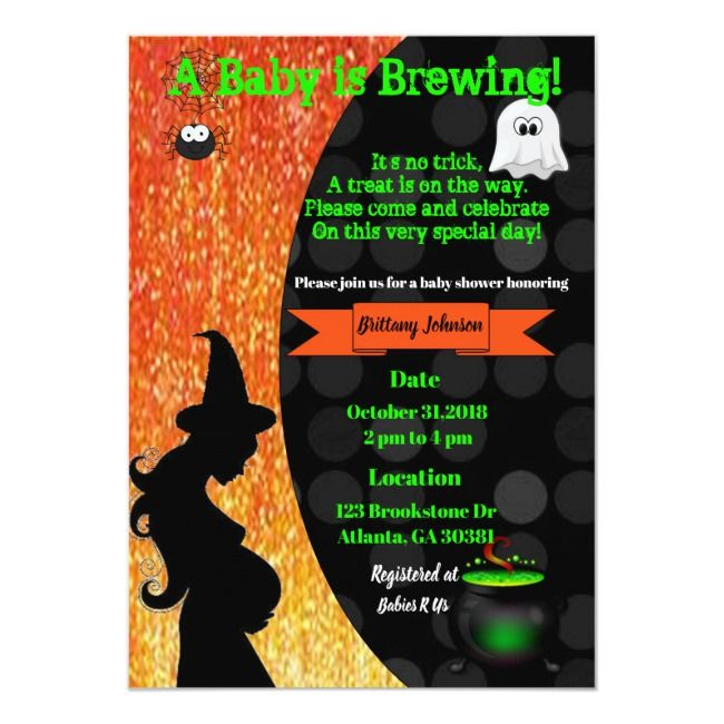 A Baby is Brewing! Halloween Baby Shower Invite | Zazzle.com