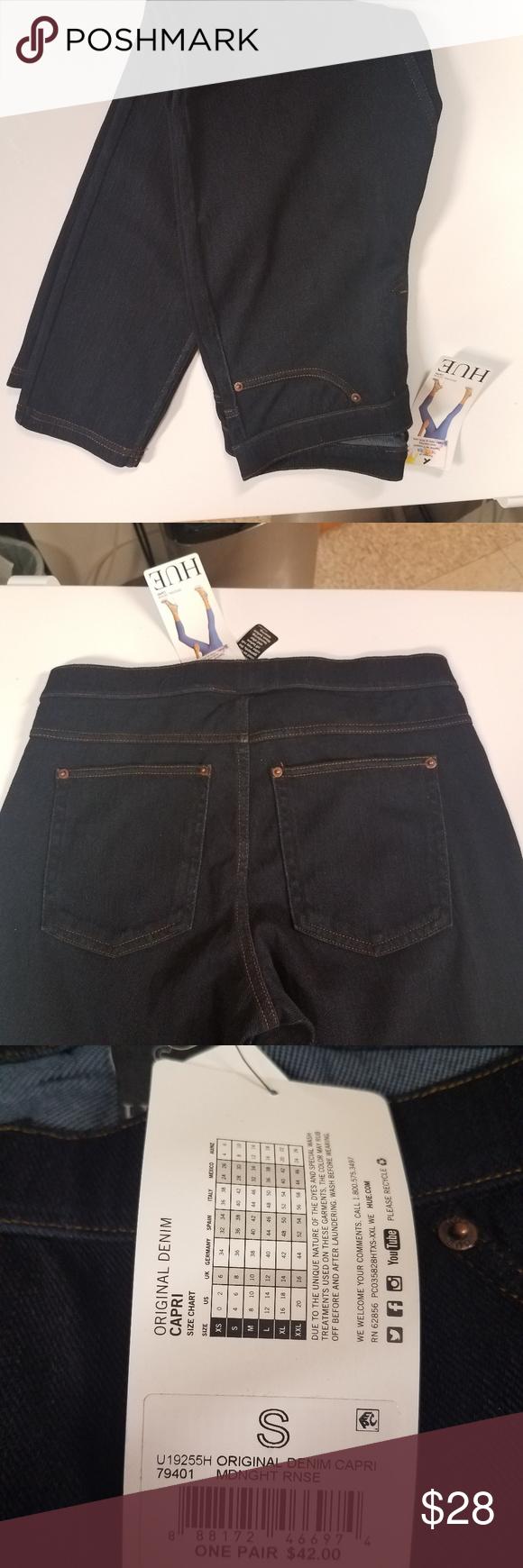 6cf855f72237cf New HUE Original Denim Capri S Add these capri leggings to your collection  as a denim