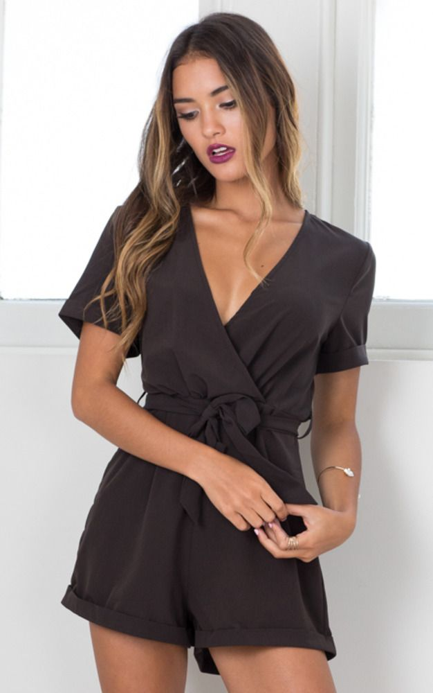 Gotta Have It Playsuit In Black Produced #gottahaveit