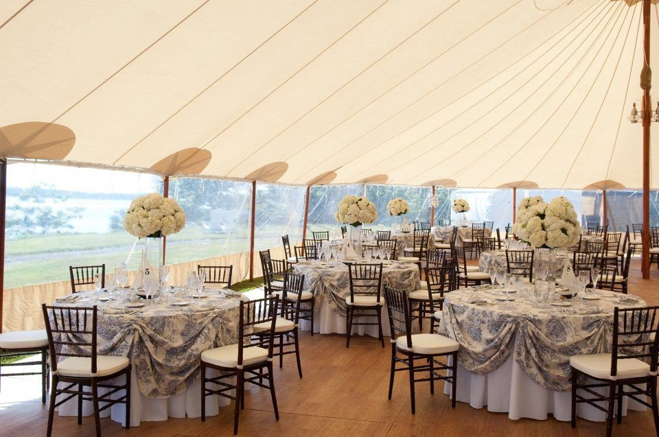 Our Nautical Sailcloth Tent Maine Wedding Venues