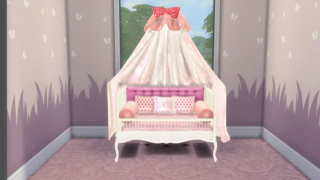 Sims 4 Custom Content Sweet Dreams Nursery Furniture Set Part 1