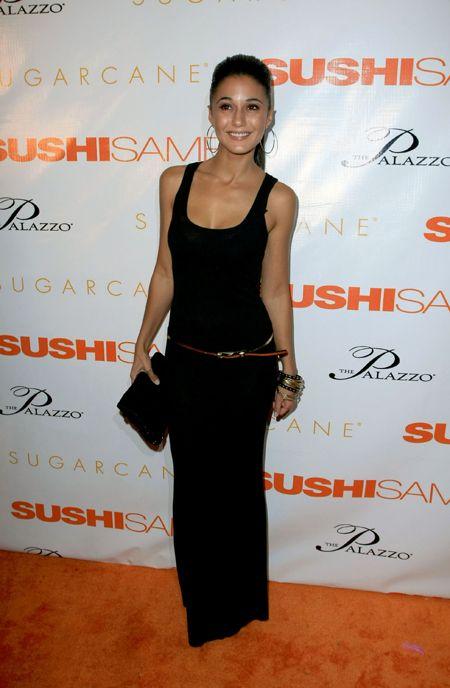 Emmanuelle Chriqui at the opening of SUSHISAMBA strip in Las Vegas