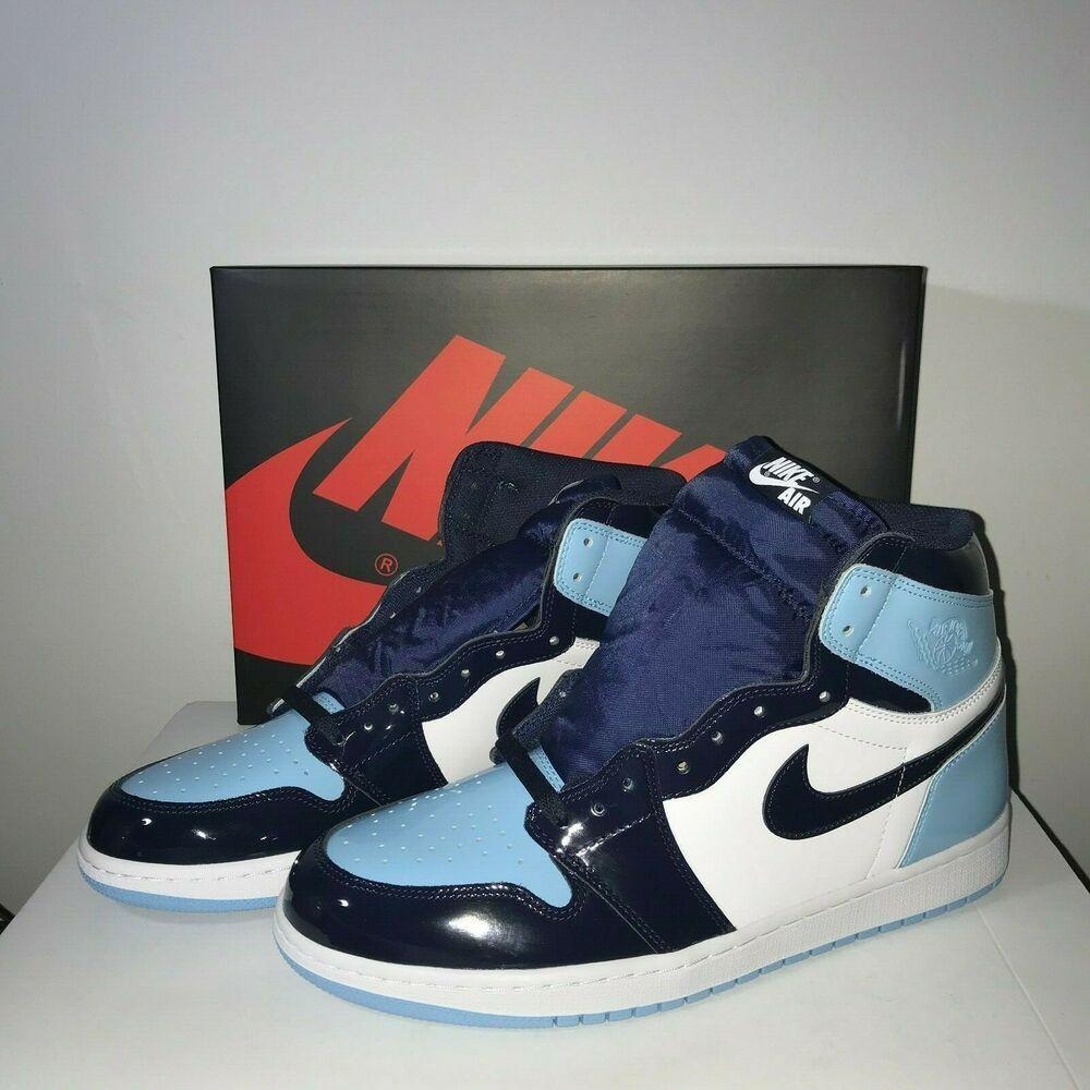 Ebay Sponsored Women S Air Jordan 1 High Og Patent Unc Obsidian Blue Chill Size 12 Cd0461 401 Air Jordans Air Jordans Retro Jordan 1 High Og