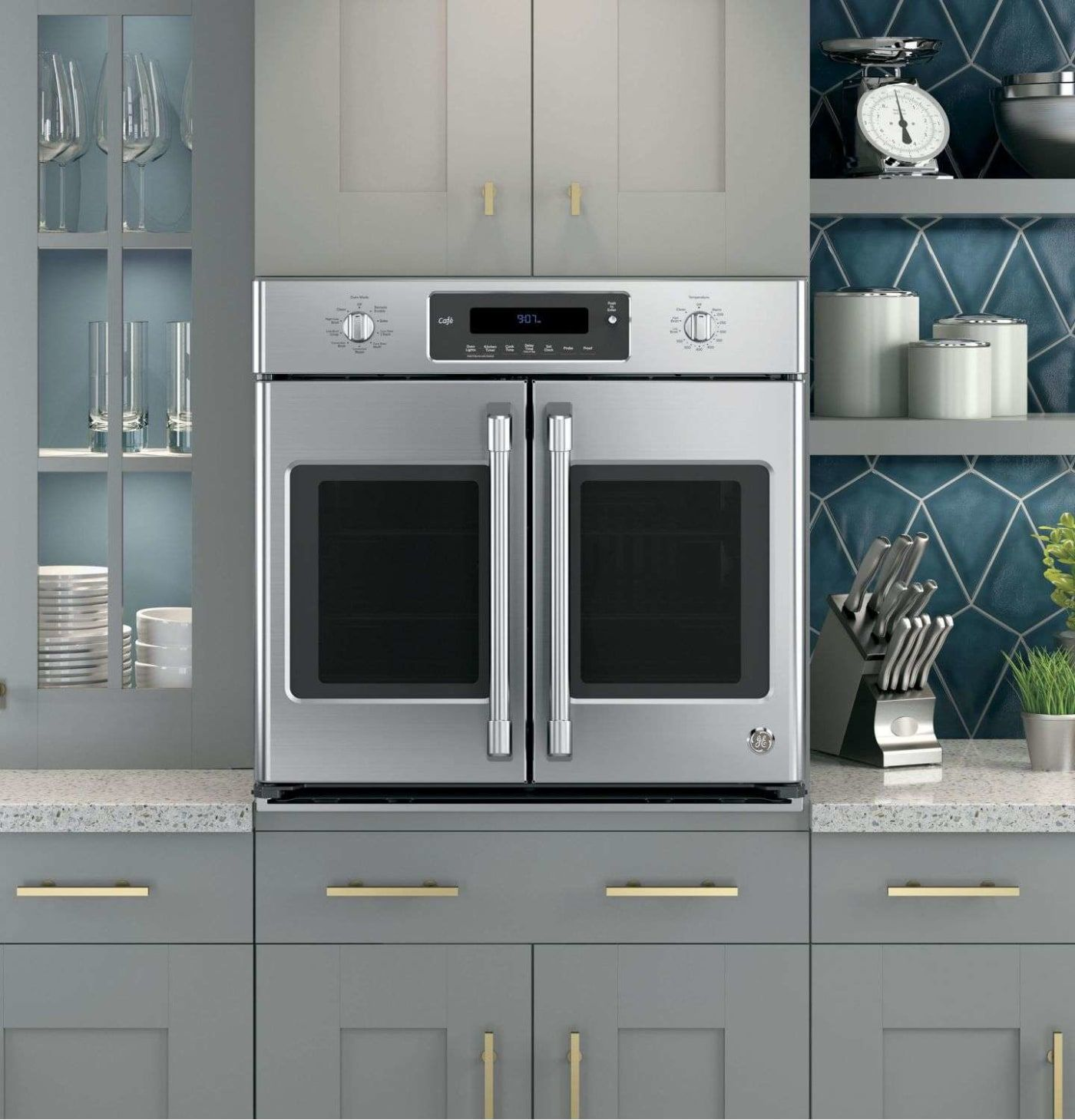 Single french door interior cafe ctshss  kitchen  pinterest  wall oven kitchen and
