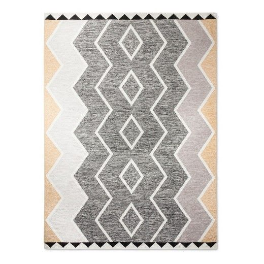 Black White Classic Woven Accent Rug 9 X12 Nate