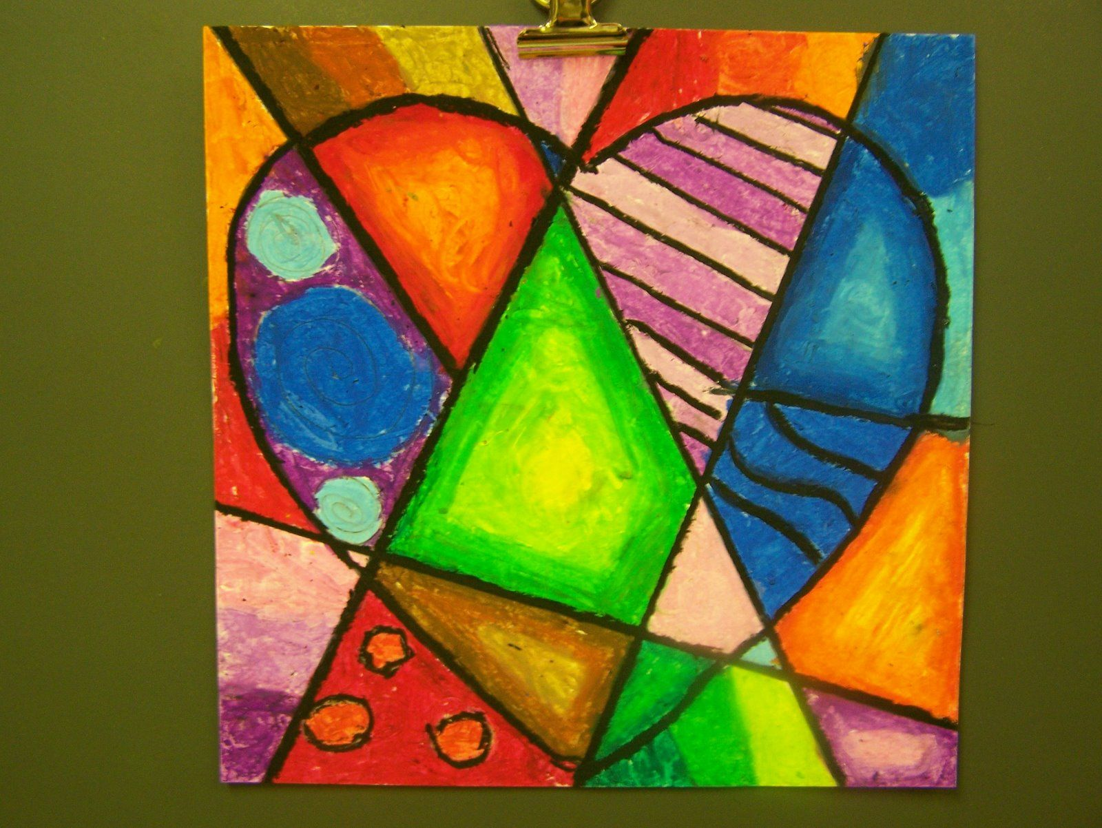 Jim Dine Hearts; art lesson in color gradation/ blending, primary ...