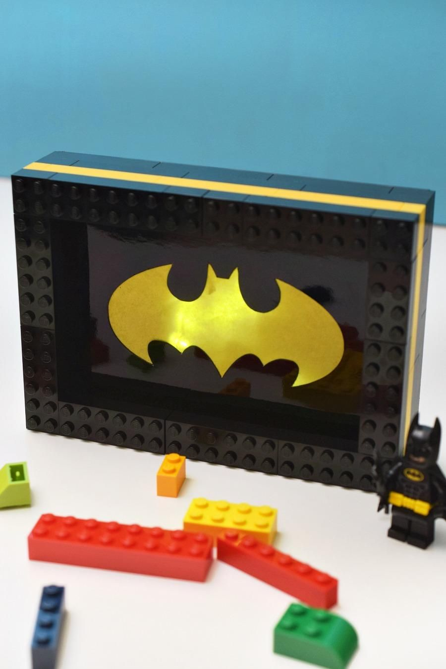 This cute Lego night light DIY craft is great for little Batman fans     This cute Lego night light DIY craft is great for little Batman fans